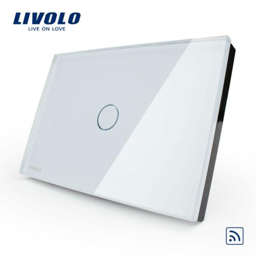 Công tắc cảm ứng chạm kính cường lực 1 phím nhấn Livolo