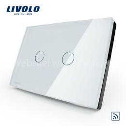 Công tắc cảm ứng chạm kính cường lực 2 phím nhấn Livolo