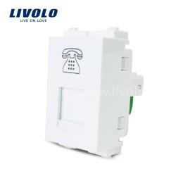 Hạt ổ cắm dây điện thoại cố định Livolo