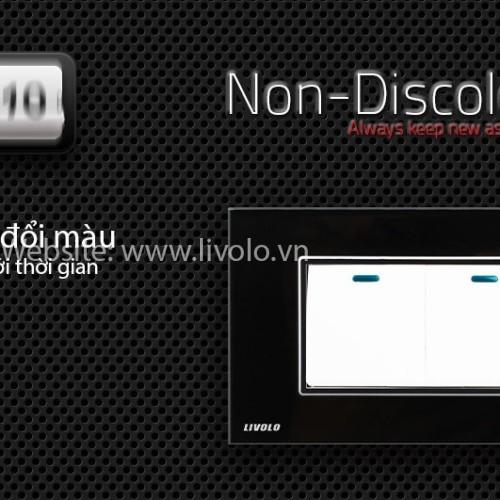 Công tắc 2 phím bấm cơ Livolo màu đen