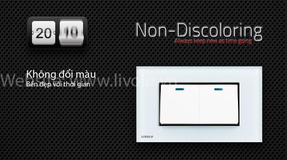 Công tắc 2 phím bấm cơ Livolo màu trắng